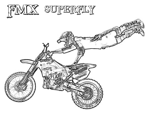 Dirt Bike Coloring Pages Free Coloring Pages For Kids