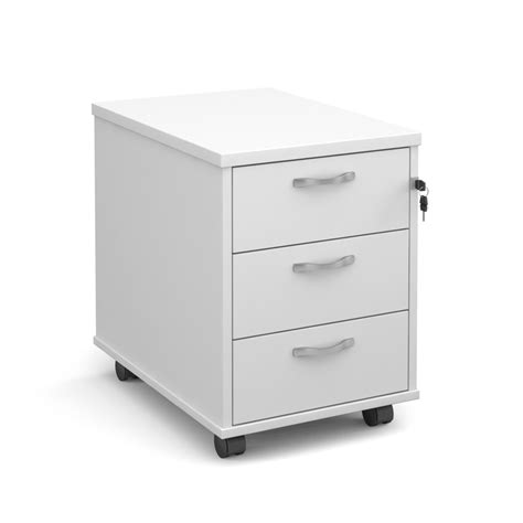 a fantastic white office drawer unit for your desk