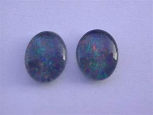 Pierre Precieuse Bleue : pierre pr cieuse opale bleue triplet cabochon 10 x 8 mm ~ Melissatoandfro.com Idées de Décoration