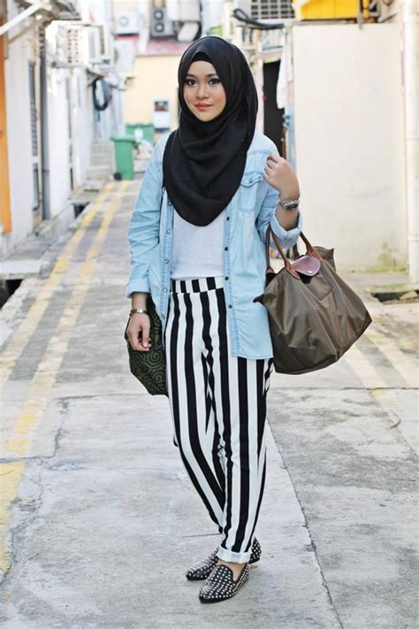fashion hijab casual style  populer