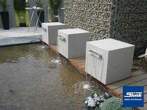 Wasserbecken Aus Beton : garten wasserfall leichtbeton kubus gropius ~ Michelbontemps.com Haus und Dekorationen