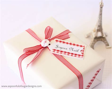 french christmas gifts inspired gift tags and fabric a spoonful of sugar