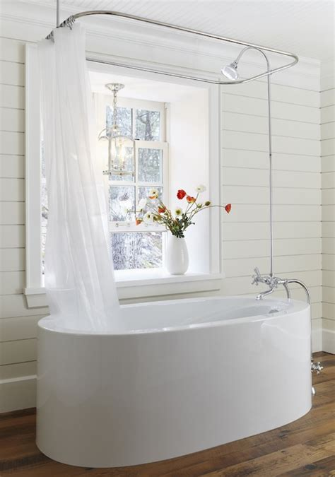ceiling shower rail cottage bathroom muskoka living