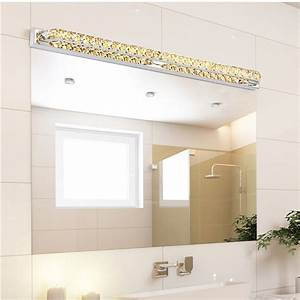 modern led crystal bathroom mirror sconces light 23w over With bathroom wall front page