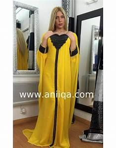 robe dubai tendance jaune et noire leila aniiqacom With robe dubai jaune