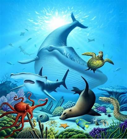 Ocean Mural Lofaro Jerry Murals Prints Fine