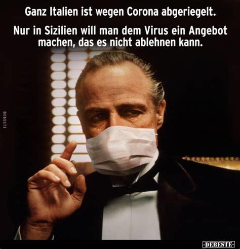 ganz italien ist wegen corona abgeriegelt lustige