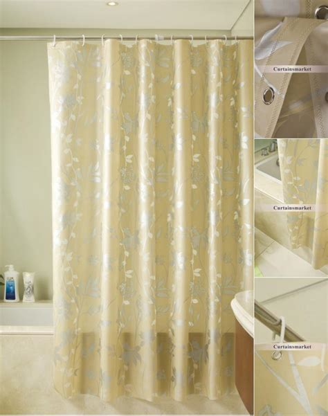 luxury gold shower curtain of leaf patterns