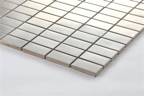 Stainless Steel Mosaic Tiles Sheets Bathroom Kitchen