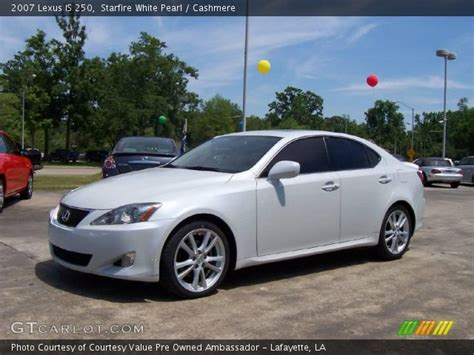 white lexus is 250 starfire white pearl 2007 lexus is 250 cashmere