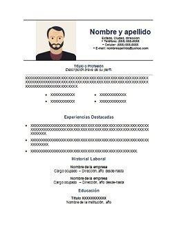 curriculum vitae  completar gratis  en espanol