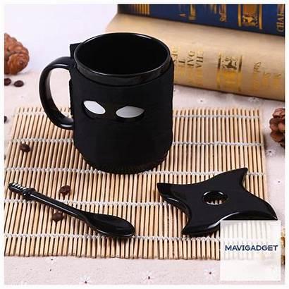 Spoon Ceramic Ninja Mug Tea Sword Mask