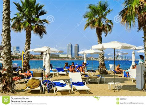 Sant Sebastia Beach, In Barcelona, Spain Editorial Photo ...