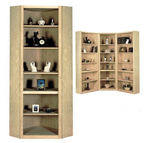 Contemporary Corner Bookcase by Contemporary Wood Corner Bookcase