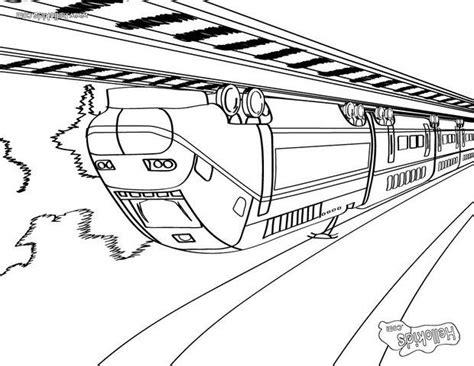 Großer Zug Zum Ausmalen Zum Ausmalen