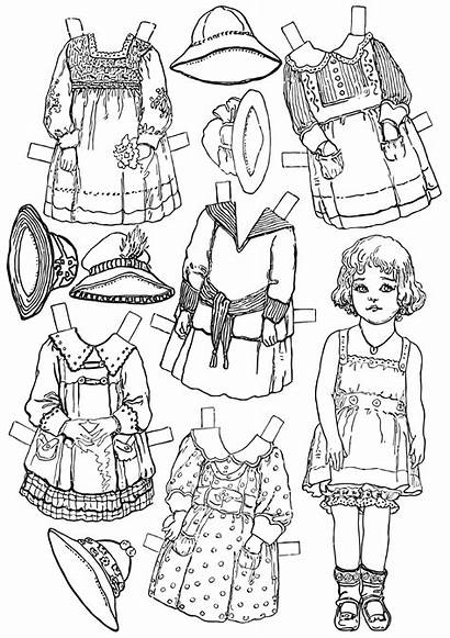 Paper Coloring Dolls Pages