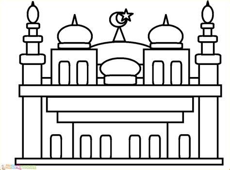 29 gambar mewarnai masjid nabawi terlengkap 2020