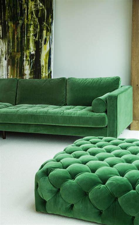 canapé vert mettez un canapé vert et personnalisez l 39 intérieur