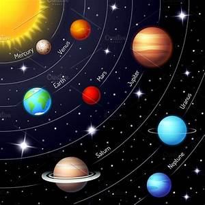 solar system ~ Illustrations ~ Creative Market