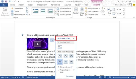 Layout Word by Add Templates And To Word 2013