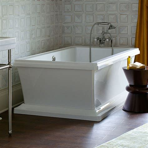 free standing soaker tubs soaking tubs fitzgerald freestanding soaker tub from dxv