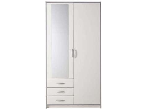 porte coulissante meuble cuisine armoire 2 portes 3 tiroirs mars coloris blanc gris vente