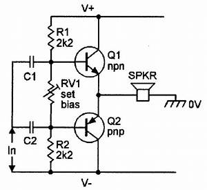 basic class ab amplifier with complementary emitter With return to circuits circuit design ideas