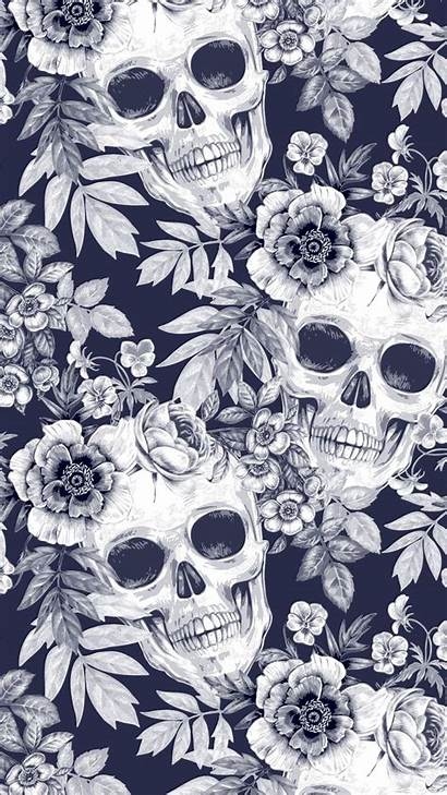 Skull Iphone Pattern Xs Witchy Everpix Wallpapers