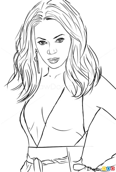 draw beyonce celebrities   draw drawing