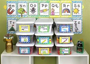 Get Organized with Classroom Supply Labels