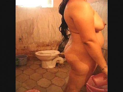 Slut Horny Whore Bitch Wife SEEMA Taking A Nude Bath
