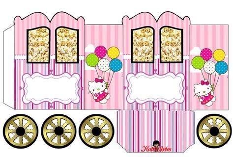 kitty princess carriage shaped  printable box