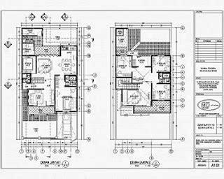 contoh gambar denah rumah minimalis rumah minimalis
