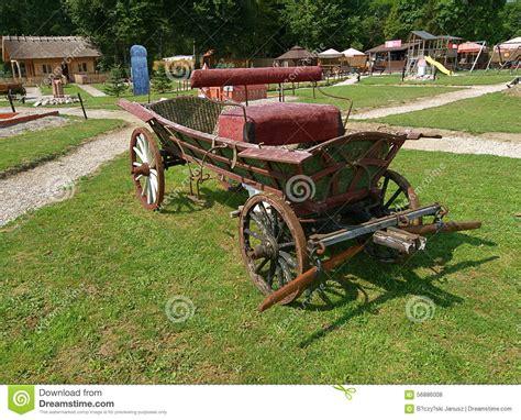 carrozza a cavalli carrozza a cavalli paese fotografia stock editoriale
