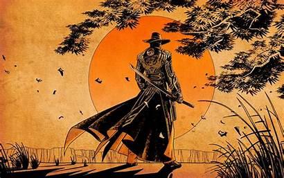 Samurai Steel Western Sunset Wallpapers Cowboy Backgrounds