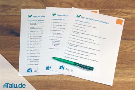 Wohnungsbesichtigung Checkliste Für Mieter Und Vermieter