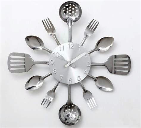 Decorative Fork And Spoon For Wall by Decorative Kitchen Wall Clocks Full Home