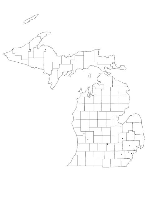 michigan map template   templates   word