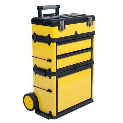 portable metal garage stalwart 22 5 in rolling stacking portable metal trolley