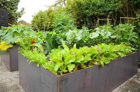 simple kitchen island steel raised bed garden seattle farm