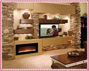 Stone fireplace mantel decor design ideas