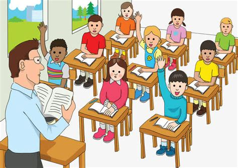 学生听讲卡通_卡通学生_认真听讲卡通_小学生卡通_七星软件网