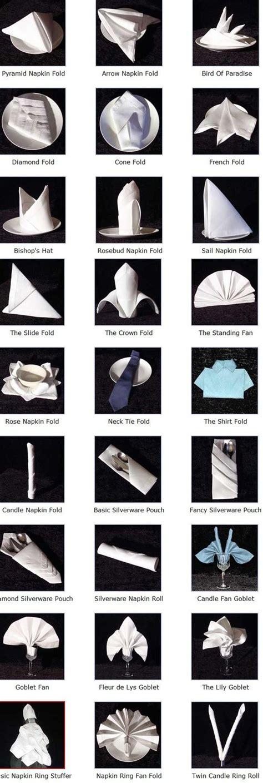 servietten design servietten falten tabellen diagramme and design on