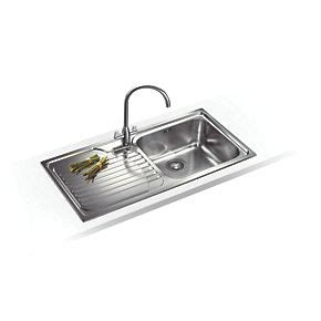 franke sink fixing franke inset kitchen sink 18 10 stainless steel 1 bowl