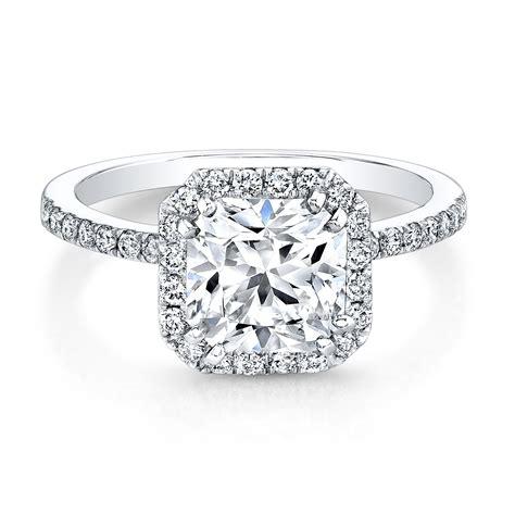 white gold square halo bezel diamond ring engagement rings