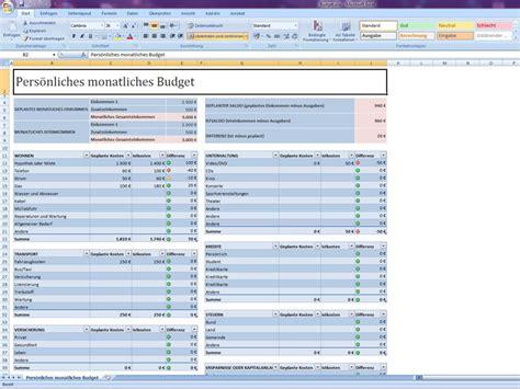 budget excelvorlagede