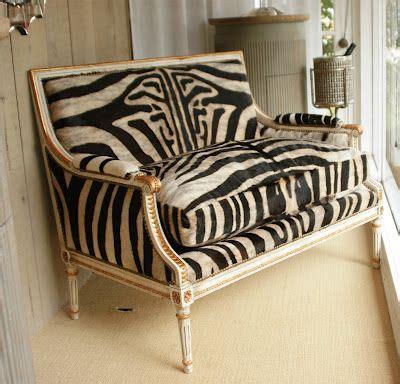 Zebra Settee by Vintage Zebra Hide Settee Louis Xvi Giltwood 1940s