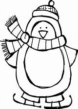 Penguin Coloring Winter Pages Batman Basic Printable Toddlers sketch template