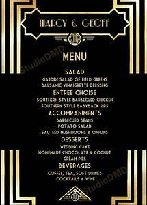 21 Birthday Invitations Free Image Result For Free Great Gatsby Menu Template Menu