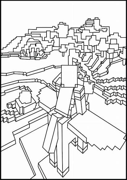 Minecraft Coloring Creeper Dragon Pages Ender Drawing